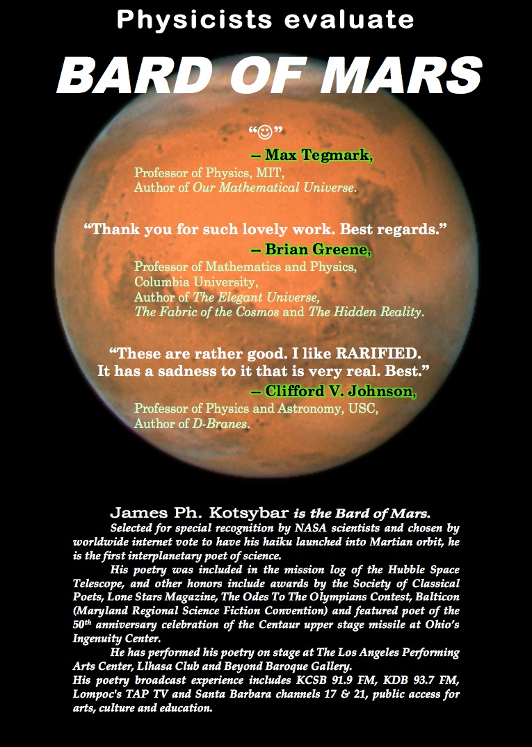 Bard Of Mars (back dust jacket)