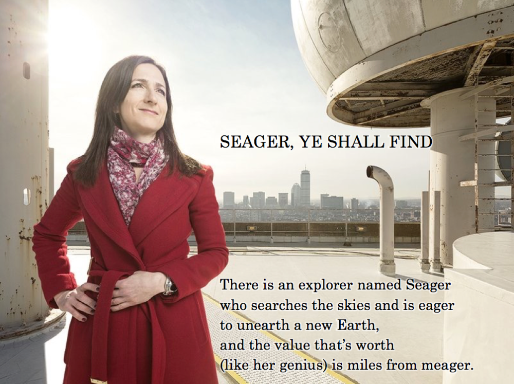 SEAGER, YE SHALL FIND