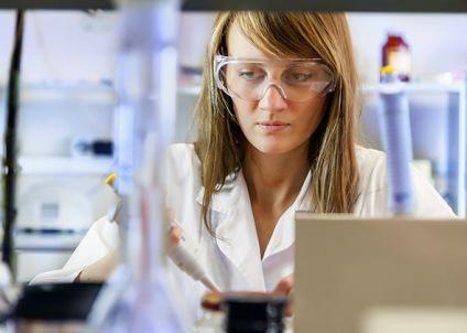 grad student in lab.